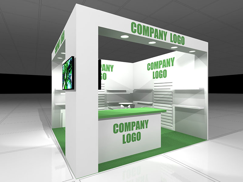 Budget custom build exhibition stand